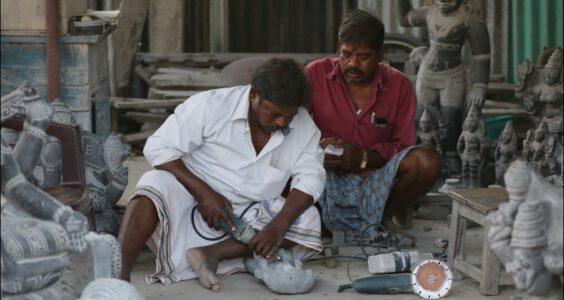 Mahabalipuram, warsztaty kamierzarzy
