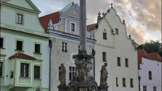 (Český Krumlov, Böhmisch Krumau) Czeski Krumlow, rynek