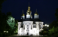 11. (Chernihiv, Чернігів, Чернигов) Czernihów wieczorem
