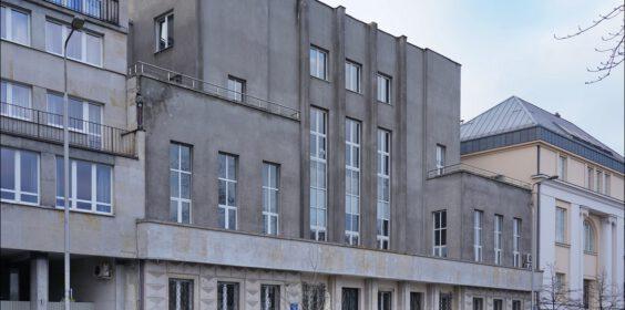 Warszawa, ul. Wybrzeże Kościuszkowskie 35, Dom Nauczycielski w 2010 i 2019