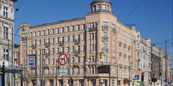 Hotel Polonia Palast w Łodzi w 2005 i 2020