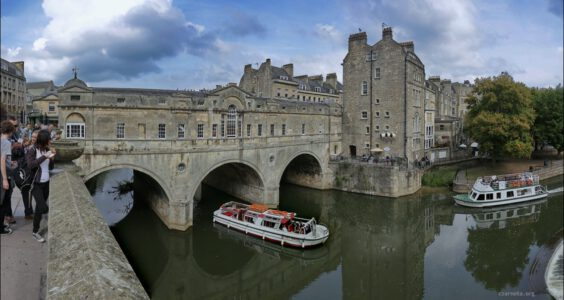 Wielka Brytania (United Kingdom, Великобритания) Bath, Pulteney Bridge i Great Pulteney Street
