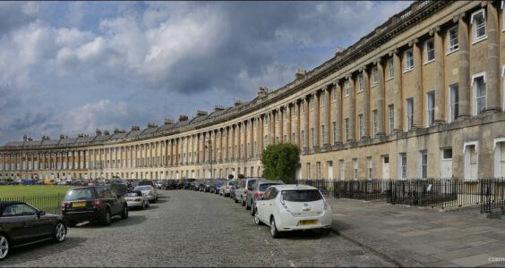 Bath, The Circus i The Royal Crescent