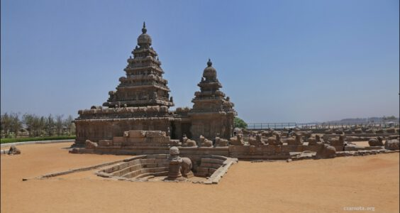 Indie, India, Mahabalipuram, The Shore Temple