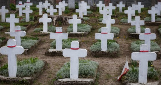 Grodno, kwatera polskich żołnierzy poległych w 1920 roku.
