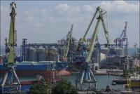 Odessa, port widziany z Parku Szewczenki