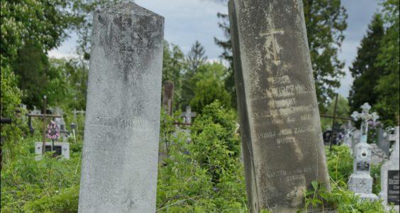Ukraina, (Stryi, Стрий, Стрый) Stryj, polskie nagrobki na cmentarzu katolickim, cz.1