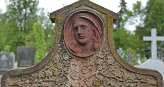 Ukraina, (Stryi, Стрий, Стрый) Stryj, polskie nagrobki na cmentarzu katolickim, cz.2