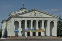 3. (Chernihiv, Чернігів, Чернигов) Czernihów, Teatr dramatyczny im. Tarasa Szewczenki