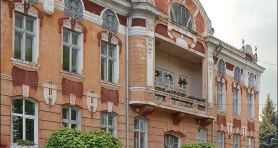 (Stryi, Стрий, Стрый) Stryj, skrzyżowanie dawnych ulic 3 Maja i Sobieskiego
