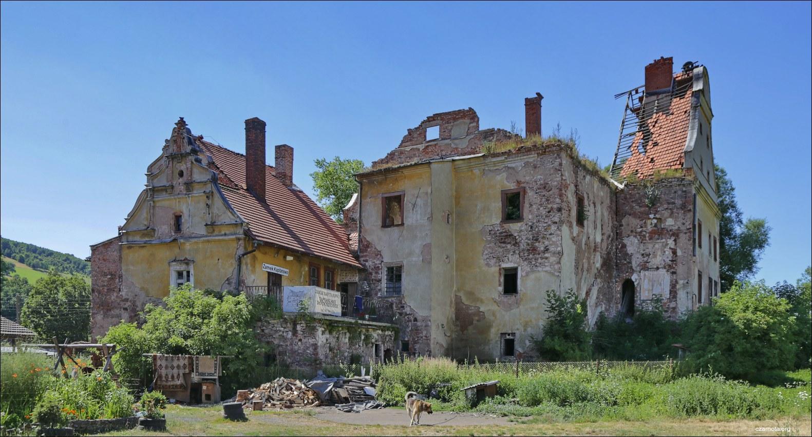 Zamek Kapitanowo w Ścinawce Średniej