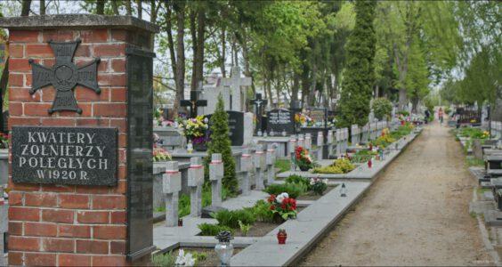 Biała Podlaska, aleja Jana Pawła II 25, Cmentarz Katolicki Kwatery żołnierzy poległych w 1920 roku. Żydzi walczyli w polskim wojsku w 1920 roku