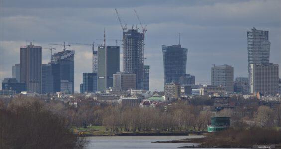 Panorama Warszawy z Mostu Siekierkowskiego