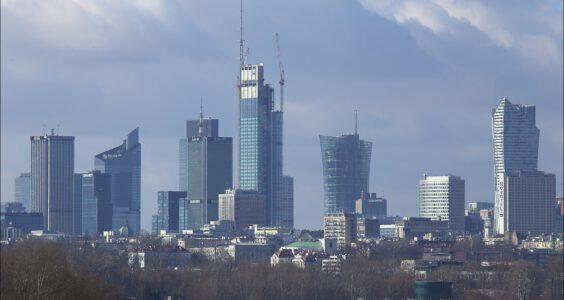 Panorama Śródmieścia Warszawy 25-27.02.2021